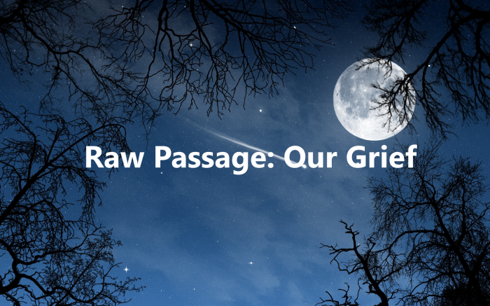 Raw Passage: Our Grief
